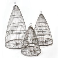 Set of three bee cloches