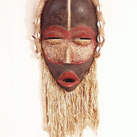Dan mask with cowrie shells--African tribal art