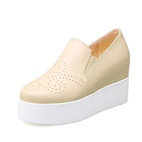Leisure College Wind Leisure Thick Bottom Increased Student Platform Wedges