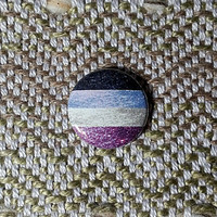 Glitter Asexual Flag Button or Magnet