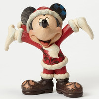 Jim Shore Disney Traditions Santa Mickey - Disney Showcase Collection Christmas Cheer - 4046016