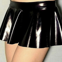 Sexy Booty Skirt FREE SHIPPING: Handmade Mini Ruffle Skirt for Rave, EDC, Cosplay, Halloween Costume Sexy Dominatrix Costume Black Leather