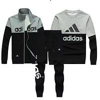 Trendsetter Adidas Women Men Top Sweater Pullover Cardigan Jacket Coat Pants Trousers Set Three-Piece