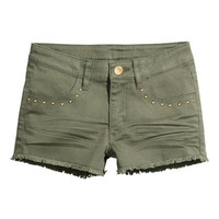 Twill Shorts with Studs | Product Detail | H&M