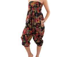 Cotton Harem 2 in 1 Trousers and Jumpsuit Floral Prints