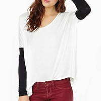Nasty Gal Double Up Top