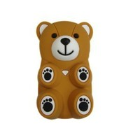Amazon.com: Plush Toy Case for iPhone 4 and iPhone 4S -- Best Quality Brown Bear Ralikkuma: Cell Phones & Accessories