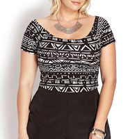Well Traveled Off-The-Shoulder Crop Top
