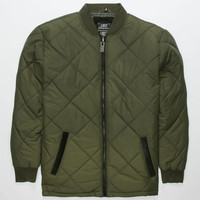 Lost The Bomb Mens Jacket Olive  In Sizes
