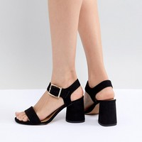 ASOS DESIGN Humming Bird Mid Block Heeled Sandals at asos.com