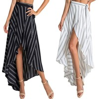 Women Fashion Summer Long Maxi Skirts Boho Evening Party Beach Casual Women Clothes Skirt