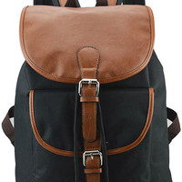 Black Buckled Backpack Bag