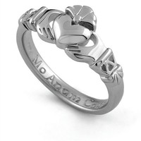 Sterling Silver Claddagh Promise Ring PROMISE1 - Size: 8 Made in IRELAND.