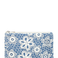 Floral Crochet Cosmetic Pouch