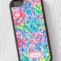 Lilly Pulitzer Abstract Custom For iPhone 6s Plus, 7, 7 plus Print On Hard Case