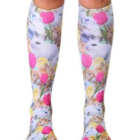 Easter Bunnies Knee High Socks