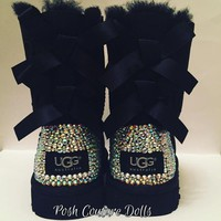 DCCK8X2 Custom Bling Bailey Bow UGG Boots