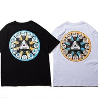 Short Sleeve Cotton Skateboard T-shirts [10710157383]