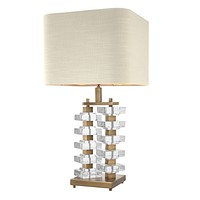 Stacked Crystal Block Table Lamp | Eichholtz Toscana