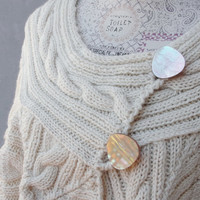 Cream Knitted Bolero Cardigan Knitwear Clothing US size 14 / 18 EU size 44 / 48