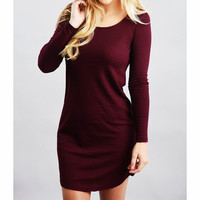 Tight long-sleeved striped dress  7015483