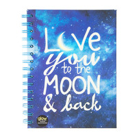 Love You to the Moon & Back Glow in the Dark Spiral Bound Journal
