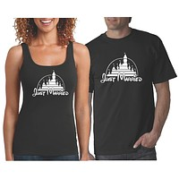 Just Married Shirts   Matching Couples T Shirt