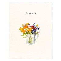 Flowers In A Measuring Cup Card