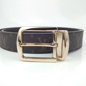 LV simple retro personality wild pin buckle belt