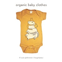 Funny Cat Onesuit — Cat Baby Shower Gift — Gender Neutral Baby Clothes