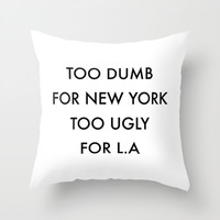 New York Throw Pillow by Trend