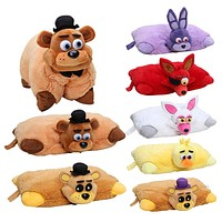 Five Nights At Freddys plush Pillow fnaf Golden Freddy Fazbear Mangle chica bonnie foxy plush stuffed pillow doll toy SQ12017