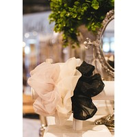 Three Piece Tulle Mesh Scrunchie, Multi