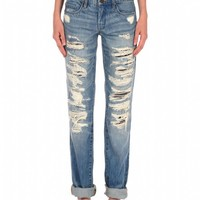 Blank NYC Distressed Relaxed Straight Leg - Torn To Shreds