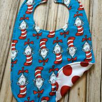 Cat in the Hat Baby Bib - One size fits infant-toddler