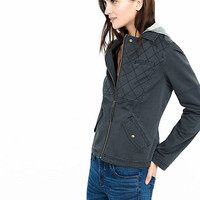 Quilted Twill Jacket from EXPRESS