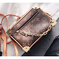 LV Louis Vuitton Popular Women Personality Box Handbag Tote Crossbody Satchel Shoulder Bag