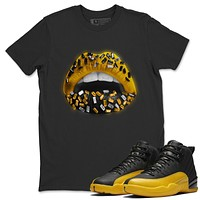 Lips Jewel T-Shirt - Air Jordan 12 University Gold