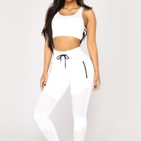 Angel With Wings Mesh Active Jogger - White