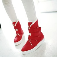 Velcro Ankle Boots Fur Women Shoes Fall|Winter 2460