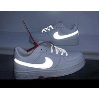 NIKE AIR FORCE 1 Tide brand men and women models wild fashion reflective low-top shoes