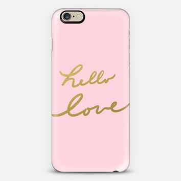 hello love - pink iPhone 6 case by Lisa Argyropoulos   Casetify