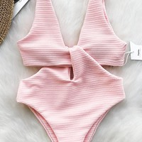 Cupshe Shine For U Solid One-piece Swimsuit
