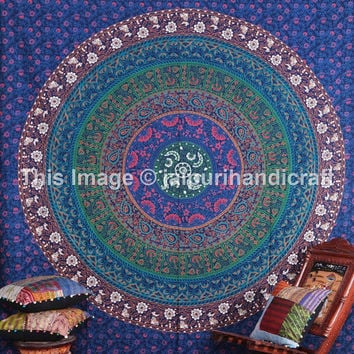 Beautiful Indian Mandala Tapestry, Indian Wall Hanging, Indian Tapestry, Bohemian Tapestry, Beach-Sheet, Decorative art, Mandala Bedspread