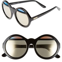 Women's Le Specs 'Hall of Mirrors' 54mm Oversized Sunglasses