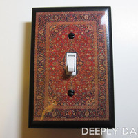 Big Lebowski inspired Persian Rug Light Switch Plate - Ties The Room Together