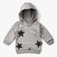 Nununu Diagonal Hoodie in Heather Grey - NU0806