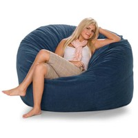 Jaxx Classic Saxx 5 ft Foam Bean Bag Chair, Microsuede