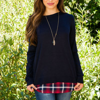 Can't Hardly Wait Sweater Top - Navy