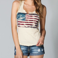 Others Follow Groupie Womens Tank Cream  In Sizes